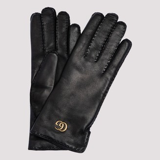 Gucci Double G Leather Gloves