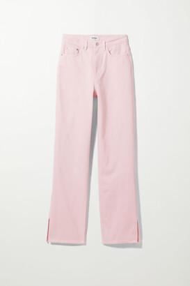 Weekday Rowe Split Jeans - Pink