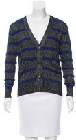 Markus Lupfer Wool-Blend Metallic Cardigan