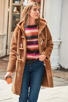 a few days away offer discounts lower price with Womens Ginger Teddy Duffle Coat - Orange