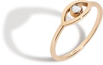 AUrate New York Diamond Bezel Evil Eye Ring