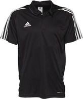 adidas Mens 3 Stripe Team ClimaCool Poly Polo Black/White/Lead