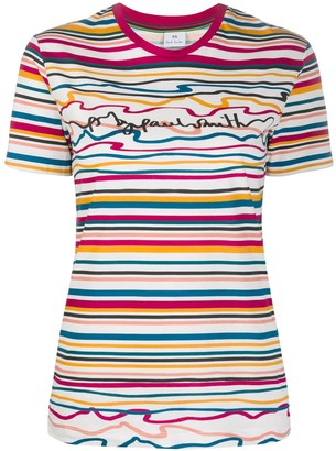 Paul Smith striped logo T-shirt