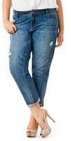 Mynt 1792 Plus Size Women's Destructed Boyfriend Jeans