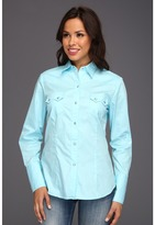 Roper 8662 Solid Poplin - Aqua (Blue) - Apparel