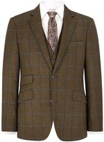 Austin Reed Austin Reed Contemporary Fit Blue Overcheck Jacket