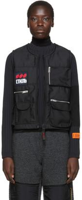 Heron Preston Black Fire Multipockets Vest