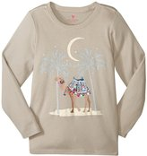 Pink Chicken Graphic Tee (Toddler/Kid) - Silver Cloud Camel - 4 Years