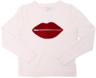 Milly Zipped Lip Viscose Knit Sweater