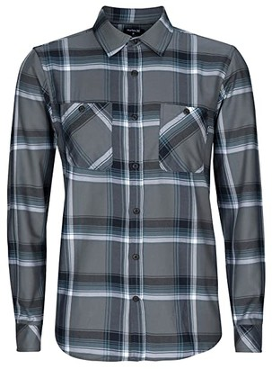 Hurley Dri-FIT Hunter Flannel Long Sleeve (Smoke Grey) Men's Clothing