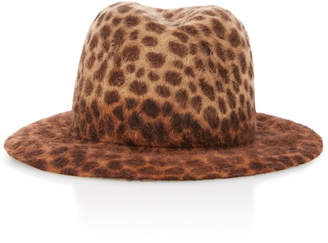 Albertus Swanepoel Maxwell Leopard-Print Felt Fedora