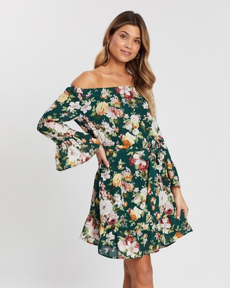 Atmos & Here Off-Shoulder Floral Dress