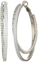 GUESS Double Textured Clutchless Hoop Earrings Earring