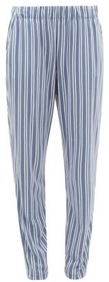 Hanro Striped Cotton-blend Jersey Pyjama Trousers - Womens - Blue Stripe