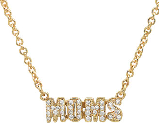 Established Pave Diamond Moms Necklace - Yellow Gold