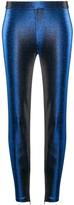 Moschino metallic-effect slim-fit trousers
