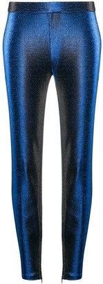 Boutique Moschino Metallic-Effect Slim-Fit Trousers