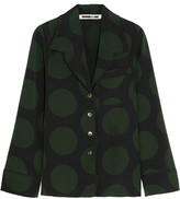 McQ by Alexander McQueen Polka-dot Crepe Shirt - Forest green