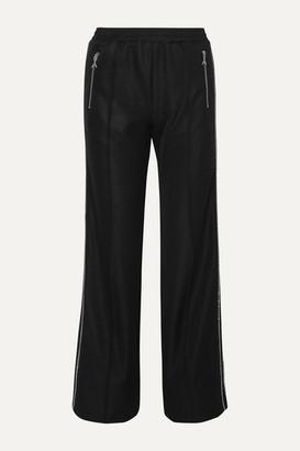 Area Crystal-embellished Jersey Track Pants - Black
