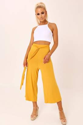 I SAW IT FIRST Mustard High Waisted Culottes