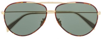 Celine Aviator Tortoiseshell Sunglasses