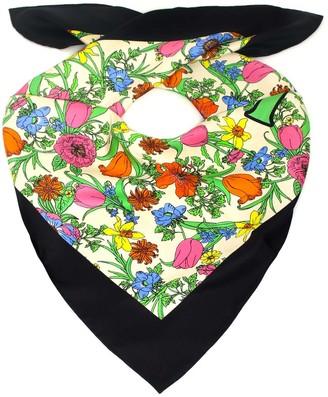 Gucci Floral Print Silk Scarf