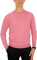 Forzieri Men's Pink Cashmere Crewneck Sweater