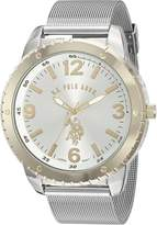 U.S. Polo Assn. Classic Men's Quartz Metal and Alloy Automatic Watch, Color:-Toned (Model: USC80381)
