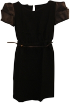 Miu Miu Black Leather Dress