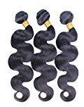 Cara Hair 6A Unprocessed Indian Virgin Hair Body Wave Human Hair Weaves Hair Extensions 3Pcs Lot Natural Black Color 8inch