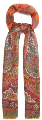 Etro Paisley-print Cashmere-blend Scarf - Red Multi