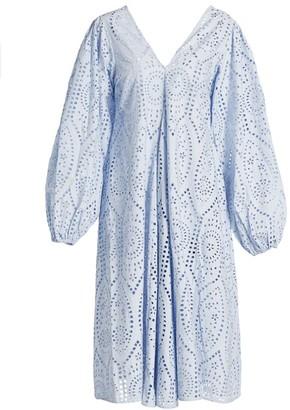 Ganni Broderie Anglaise Eyelet Dress