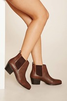 Forever 21 FOREVER 21+ Faux Leather Chelsea Booties
