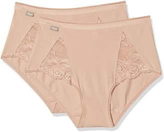 Playtex Women's Cherish Cotton & Lace Midi X2 Hipster,(Manufacturer Size: Medium)