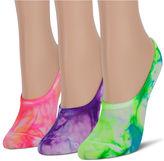 Asstd National Brand 3Pk Tie Dye Mesh Liner Socks