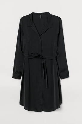 H&M H&M+ Short Shirt Dress - Black