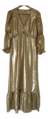 Shrimps Gold Polyester Dresses