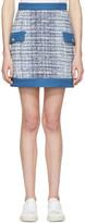 Pierre Balmain Blue Tweed Miniskirt