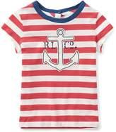 Ralph Lauren Striped Jersey Graphic T-Shirt