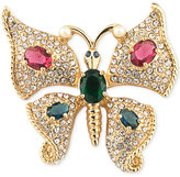 Carolee Gold-Tone Crystal and Pavé Butterfly Pin