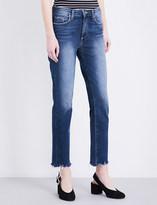 Paige Jacqueline frayed-hem straight jeans