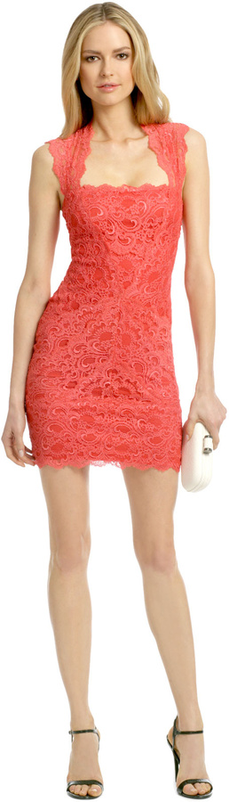 Nicole Miller Coral Fair Lady Dress