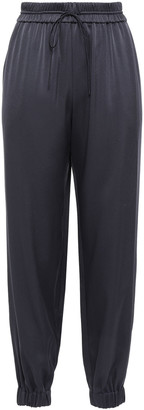 Grey Jason Wu Silk Crepe De Chine Track Pants