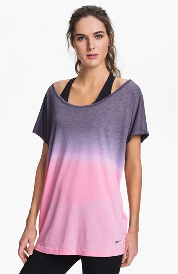 Nike Dip Dye Dri-FIT Tee Ion Pink/ Dark Obsidian One Size