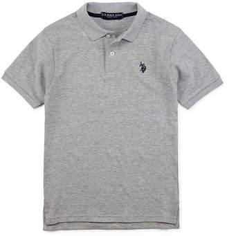 U.S. Polo Assn. Boys Spread Collar Short Sleeve Embroidered Polo Shirt