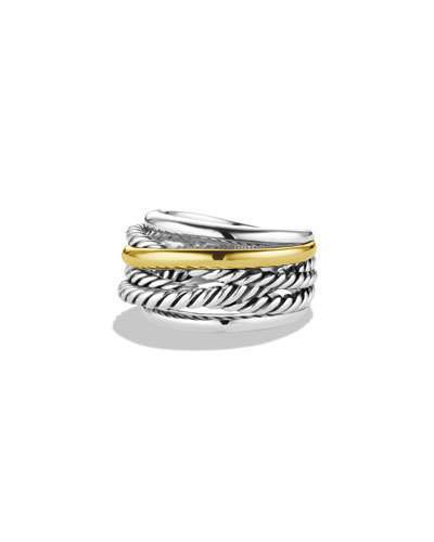 David Yurman Crossover Narrow Ring with Silver/Gold