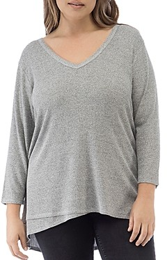 Laurèl B Collection by Bobeau Curvy V-Neck Crossover Top