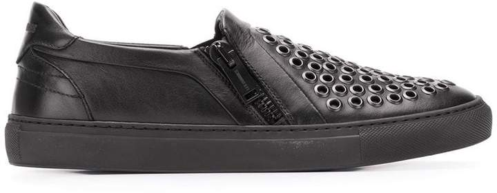 Les Hommes punch-hole detail sneakers