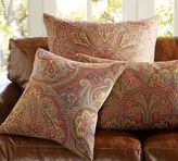 Wool Jacquard Pillow Cover - Red