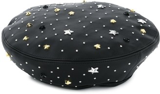 Twin-Set Studded Faux-Leather Beret